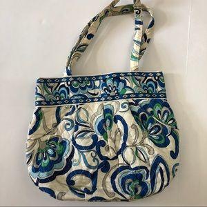 Vera Bradley mid-sized blue & White Floral Tote